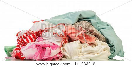 Dirty laundry isolated