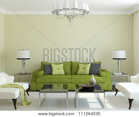 Modern Living-room. 3d rendering.