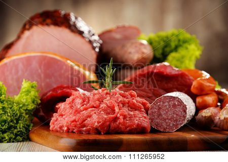 Meat Products Including Ham And Sausages