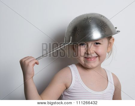 Girl With A Pot On Her Head