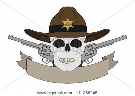 Wild west sheriff emblem