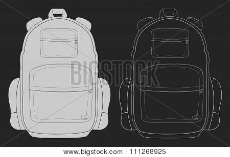 Travel backpack chalk