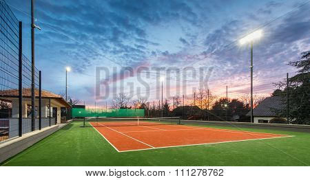 Tennis Court At A Private Estate