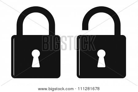 padlock icon for web