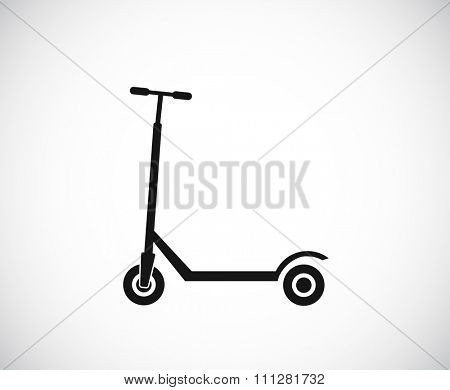 kick scooter black icon