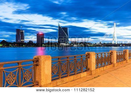 Evening scenery of Riga, Latvia