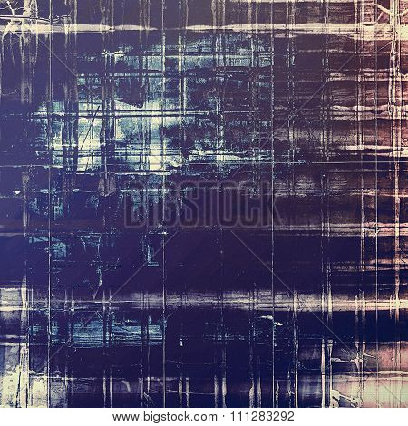 Old texture as abstract grunge background. With different color patterns: yellow (beige); blue; purple (violet); black