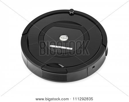 Robotic vacuum cleaner isolated on white background