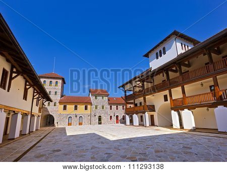 Andricgrad or Kamengrad in Visegrad - Bosnia and Herzegovina - architecture travel background