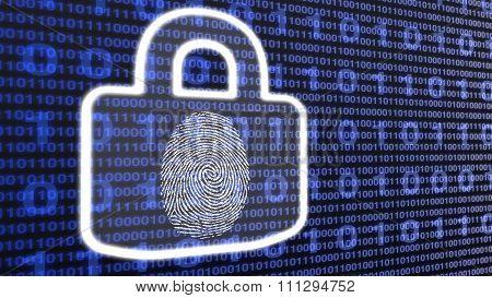 White Digital Lock With Fingerprint.