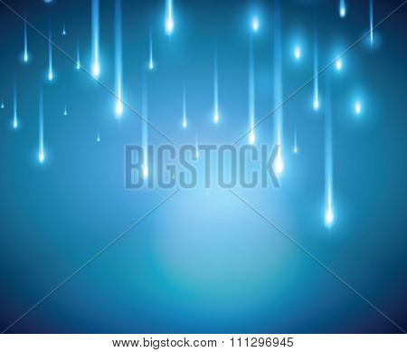 Blue Light And Blurred Halation Colored Shooting Star Background Vector