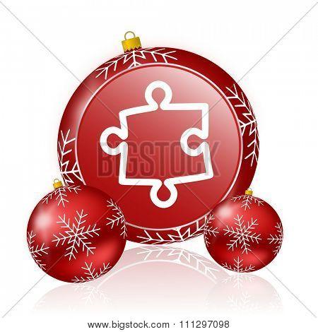 puzzle christmas icon