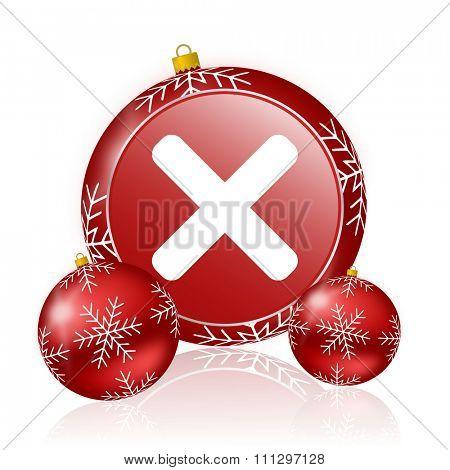 cancel christmas icon