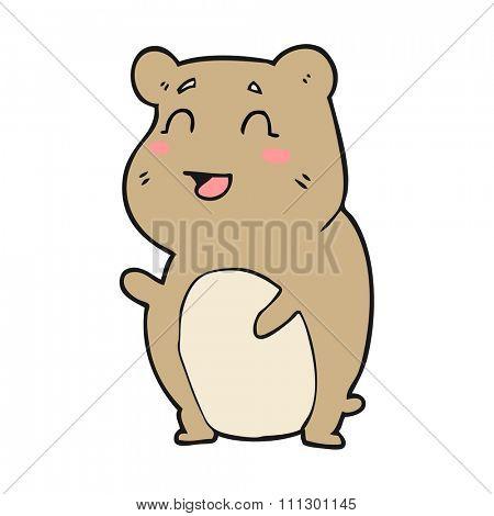 freehand drawn cartoon cute hamster