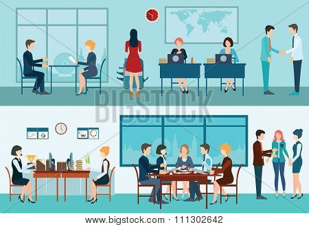 Business Meeting Conceptual Vector Illustration.
