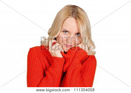 Handsome blonde young woman