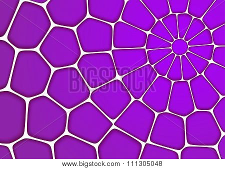 Volumetric Geometrical Purple Background With Outline Extrude Effect.  Abstract 3D Vector Background