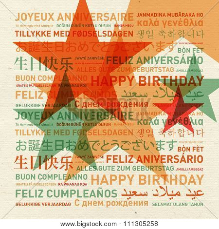 Happy Birthday Card From The World