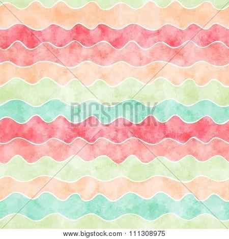 Watercolor wavy lines