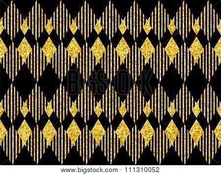 Golden Glitter Sparkles Background 1