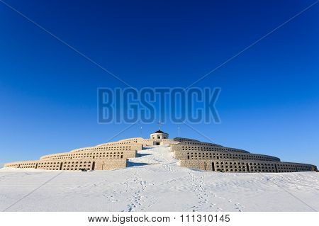 Winter Panorama From Monte Grappa, Italy