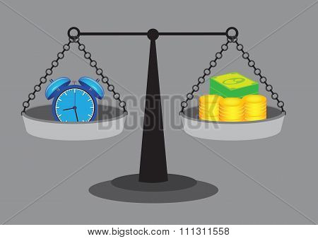 Time Equals Money Vector Illustration