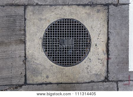 Round Sewer With Holes On It