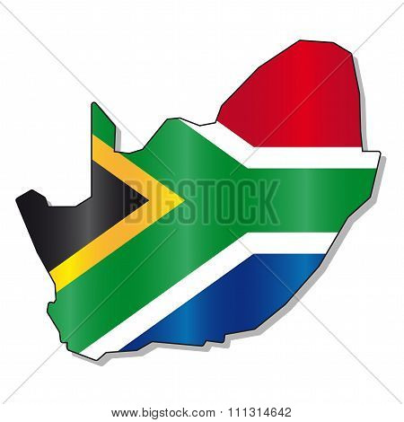 South Africa map flag