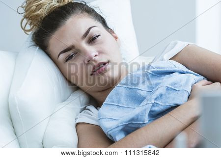Unwell Girl With Flu