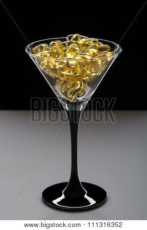 Omega 3 Cod Liver Oil Capsules. Creative