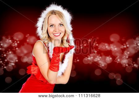Miss Santa with kissing Hand