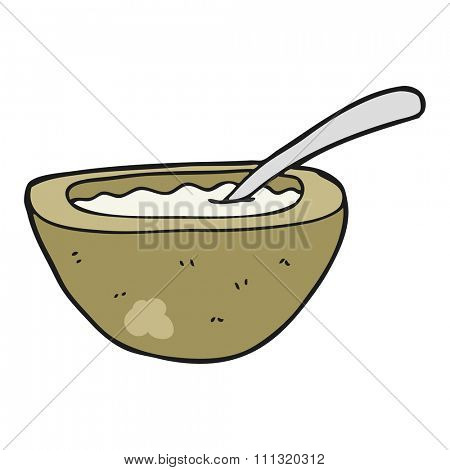 freehand drawn cartoon porridge