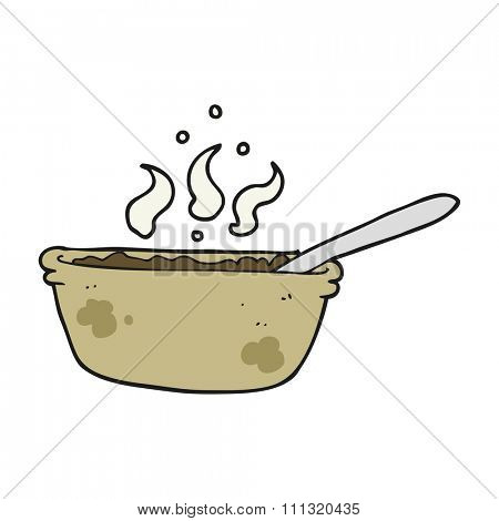 freehand drawn cartoon bowl of stew