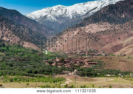 Village In Atlas Mountains.