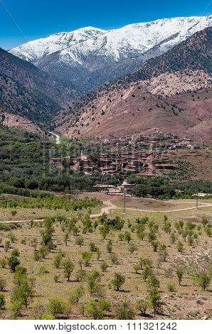Village In Atlas Mountains.