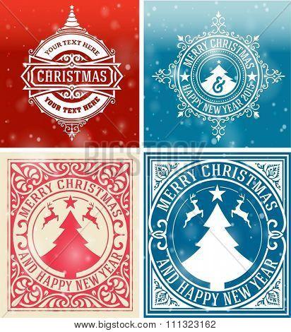 Christmas cards set.