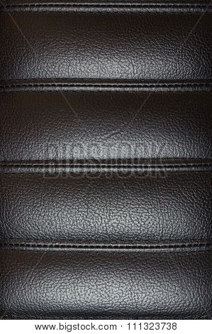 Black Leather Texture From Chair