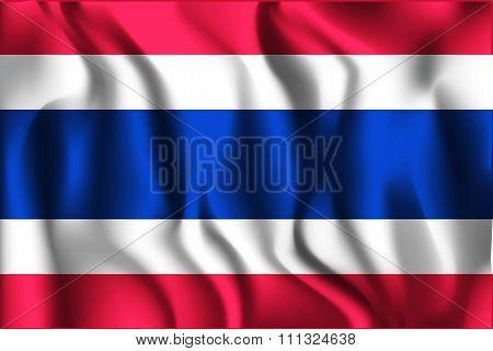 Flag Of Thailand. Rectangular Shape Icon