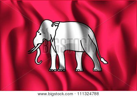 Thailand Variant Flag. Rectangular Shape Icon