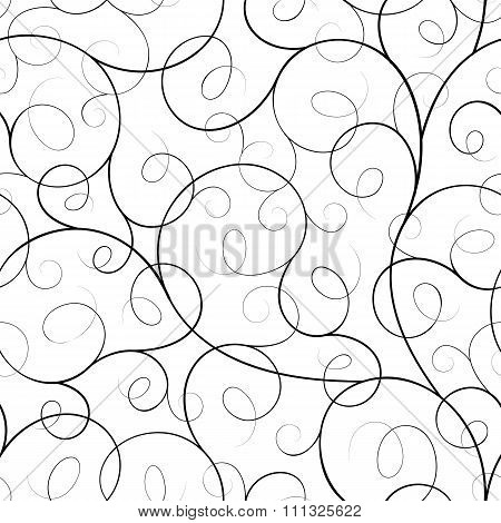 Seamless abstract liana twisted tendril background