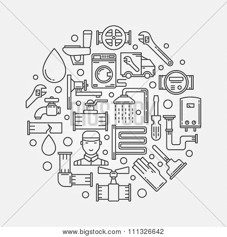 Repair plumbing illustration