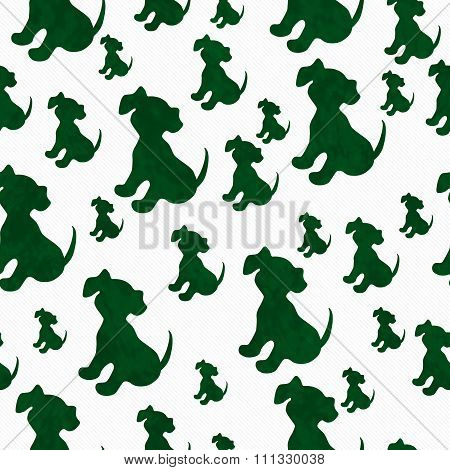 Green And White Puppy Dog Tile Pattern Repeat Background