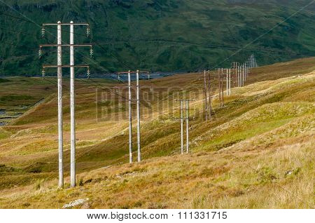 Power lines Perthshire