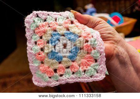 Colorful crochet work