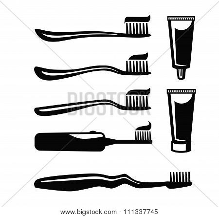 Toothbrush With Paste vector