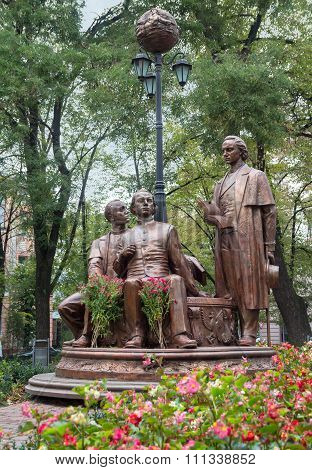 Ivano-frankivsk, Ukraine - September 17, 2015: Monument To The Writers - Activists Of National-cultu