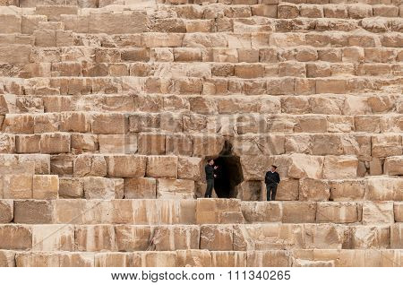 Security guards at Giza
