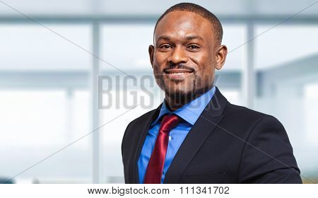 Mature african businessman in a modern office