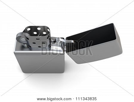 Lighter On A White Background. 3D