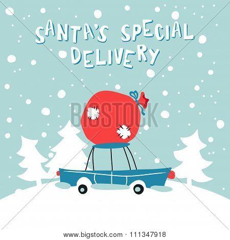 Santas Special Delivery Illustration